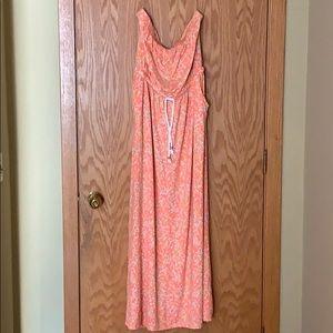 Strapless Gap maxi dress size L.
